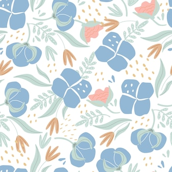 Jednolity wzór słodkiej bawełny na białym tle ilustracji wektorowych