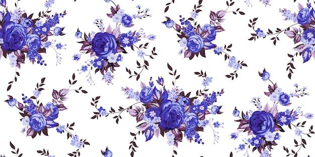 Jednolity wzór vintage z eleganckimi różami