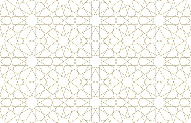 Jednolity wzór w autentycznym arabskim stylu. ilustracja wektorowa