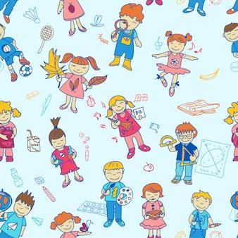 Jednolity wzór z powrotem do dzieci w wieku szkolnym
