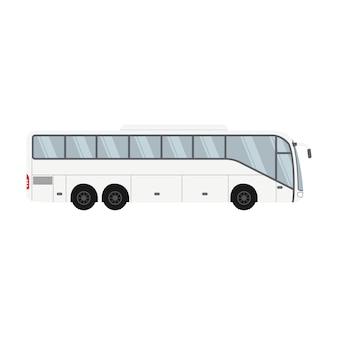 Jednopiętrowy projekt autobusu do transportu i podróży
