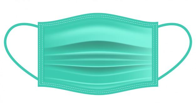 Jednorazowa płaska maska chirurgiczna / maska do twarzy dla aplikacji lub stron internetowych