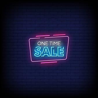 Jednorazowa sprzedaż neony w stylu tekstu