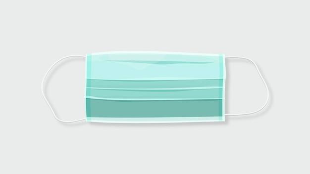 Jednorazowa zielona maska chirurgiczna covid-19 świadomość