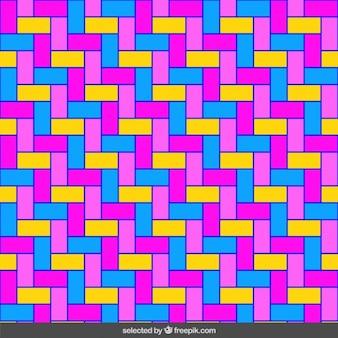 Jednorodna fluor prostokąty mozaika