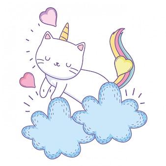 Jednorożec kot kreskówka