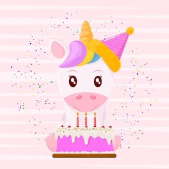 Jednorożec z okazji urodzin
