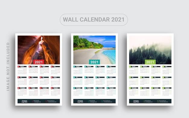 Jednostronicowy kalendarz ścienny 2021