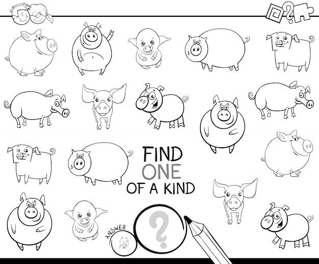 Jedyna w swoim rodzaju gra z kolorowanką świni