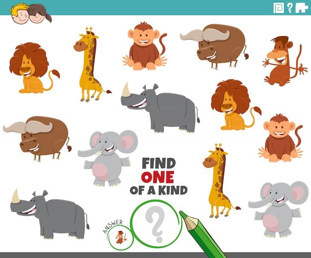 Jedyne w swoim rodzaju zadanie z postaciami z dzikich zwierząt
