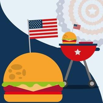 Jedzenie amerykański dzień niepodległości