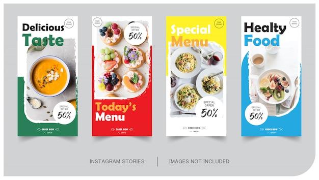 Jedzenie i kulinarny post na instagramie