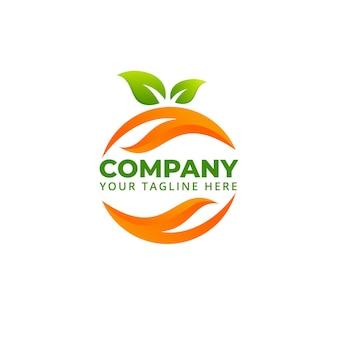 Jedzenie natura owoce warzywa abstrakcyjne logo