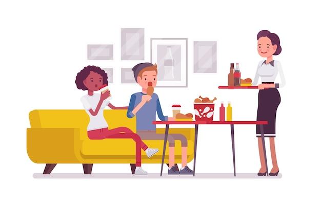 Jedzenie w kawiarni