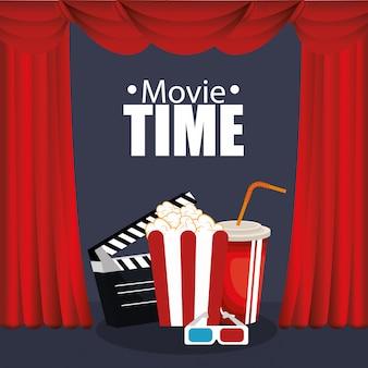 Jedzenie w kinie z ikonami filmu