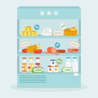Jedzenie w kolekcji lodówek