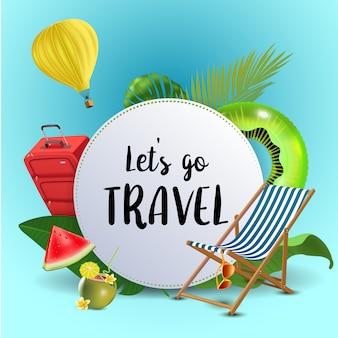 Jedźmy w podróż. letni układ banerów.