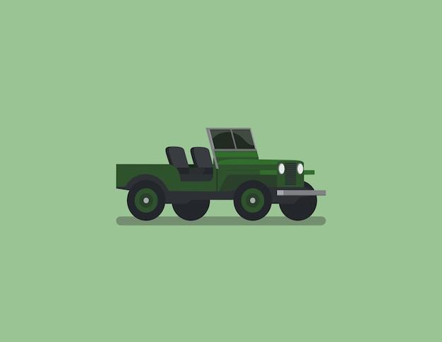 Jeep płaski wektor