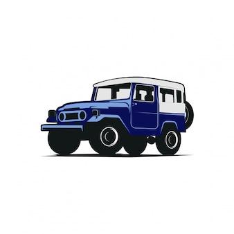 Jeep przy drodze
