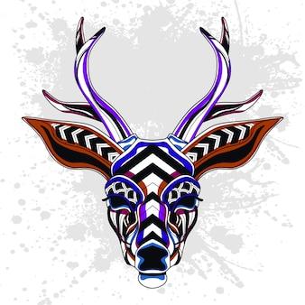 Jeleń z abstrakcyjny wzór dekoracyjny