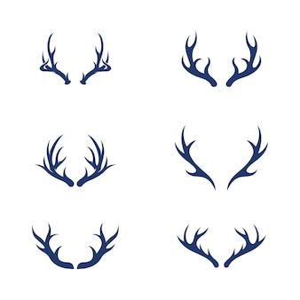 Jeleń zwierzę szablon wektor ikona ilustracja projekt