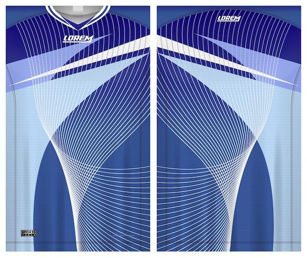 Jersey piłkarski sport, jednolity widok z przodu iz tyłu materiału szablonu