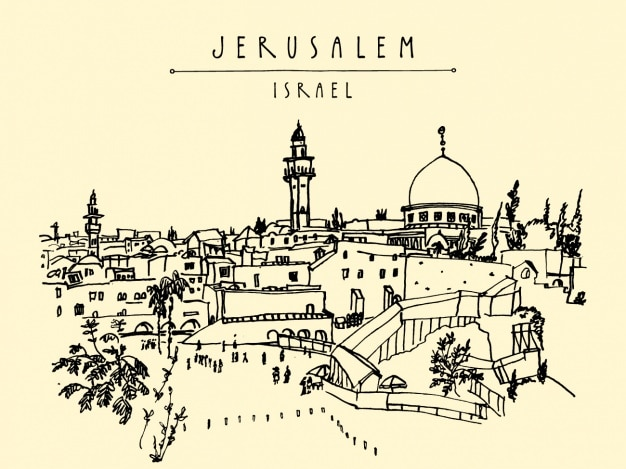 Jerusalem wzór tła