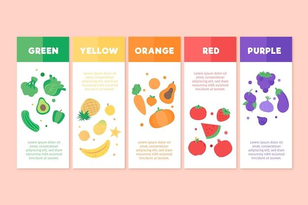 Jeść szablon infographic tęczy
