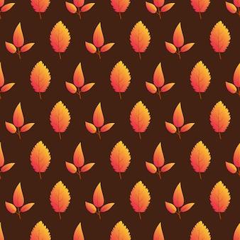 Jesień bezszwowe tło z kolorowych liści. projektuj plakaty na sezon jesienny, papiery pakowe i dekoracje świąteczne. ilustracja wektorowa
