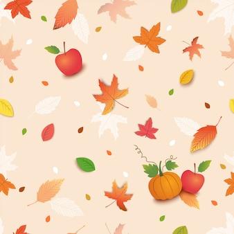 Jesień bezszwowy wzór