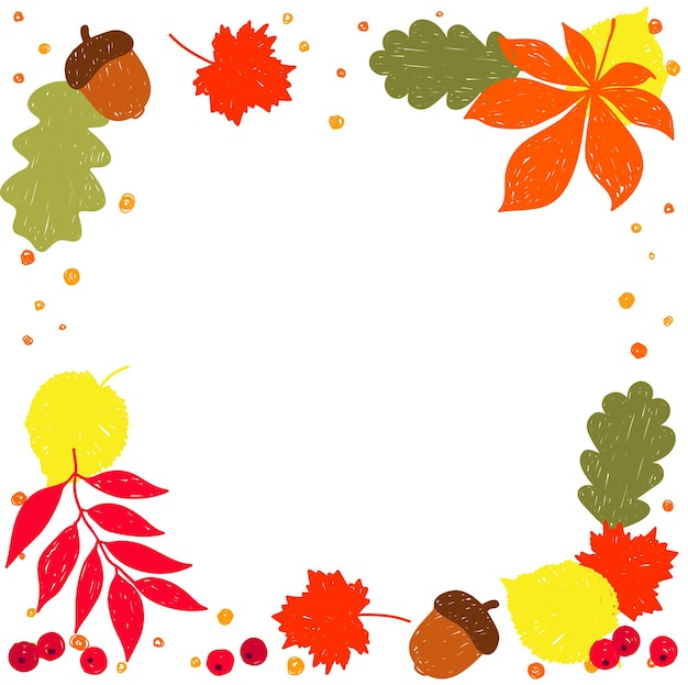 Jesień czas wzór tła. ręcznie robione czerwone, pomarańczowe, żółte jesienne liście na białym okładce karty projektowej, zaproszenia, albumu szkolnego, albumu, tkaniny itp.