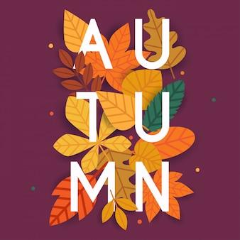 Jesień. jesienne liście w tle.