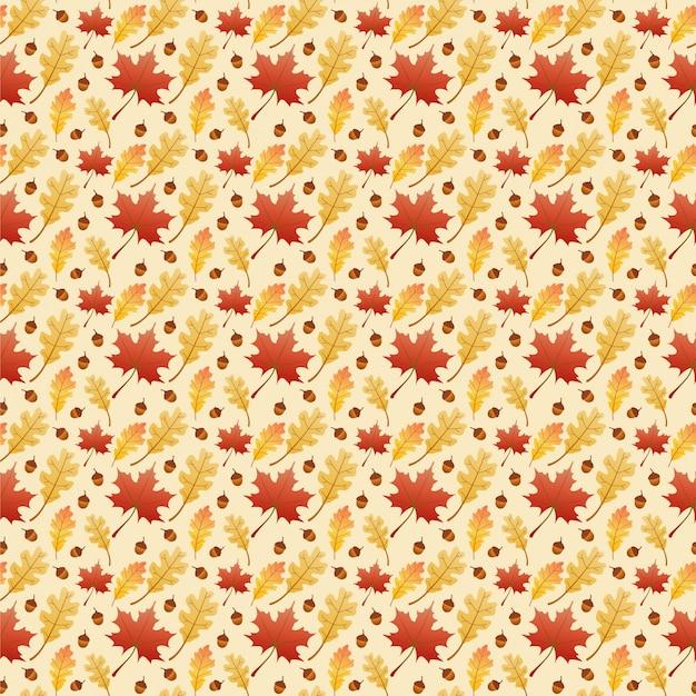 Jesień klon liści wzór