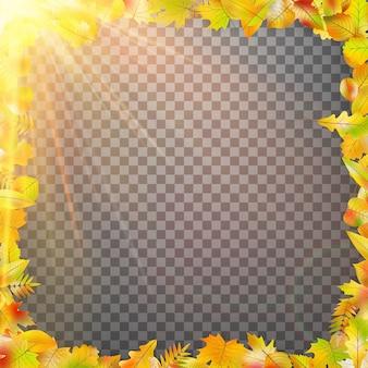 Jesień koncepcja szablon z miejsca na kopię.