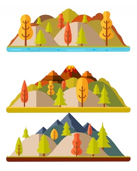 Jesień krajobrazy, wzgórza i góry, krajobraz naturalny