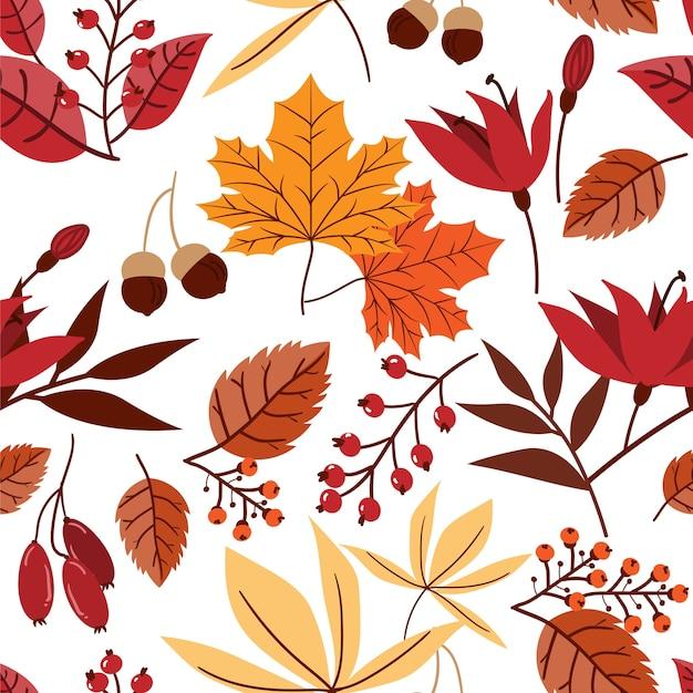 Jesień kwiatowy wzór
