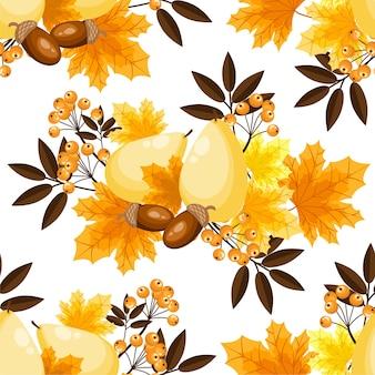 Jesień kwiatowy wzór.