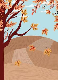 Jesień las tło