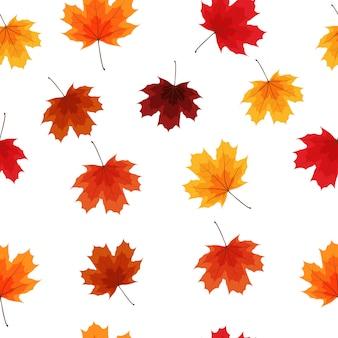 Jesień liści tła bezszwowa deseniowa ilustracja