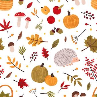 Jesień ręcznie rysowane wektor wzór.