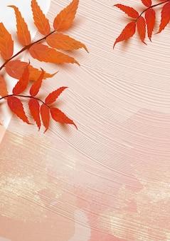 Jesień sezon tło wektor z liśćmi sumaka
