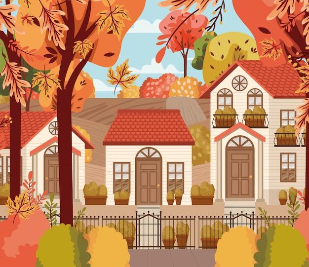 Jesień sezonu projekt, wektorowa ilustracja