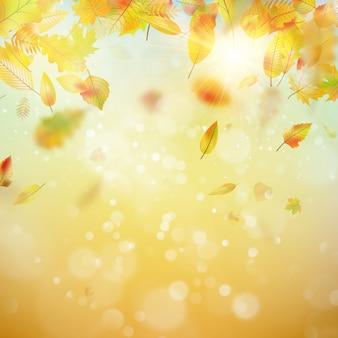 Jesień streszczenie tło.