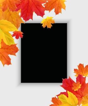 Jesień szablon tło naturalne z opadających liści. eps10
