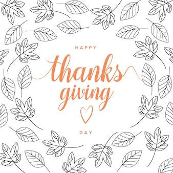 Jesień szczęśliwa karta dziękczynienia