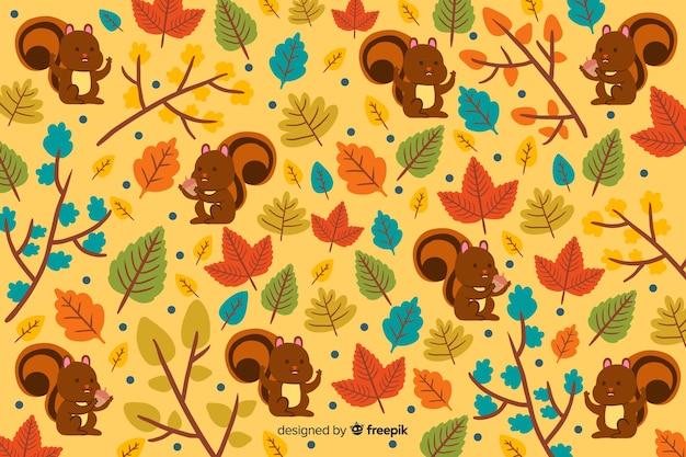 Jesień tła ręka rysujący styl