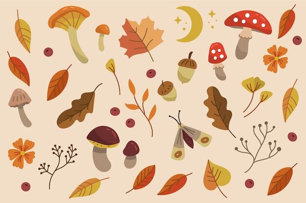 Jesień tło rysowane ręcznie