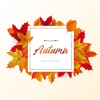 Jesień tło wektor