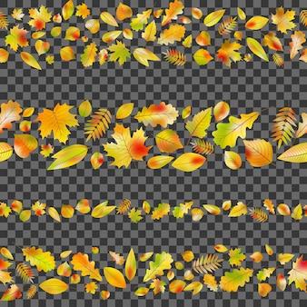 Jesień tło z liśćmi.