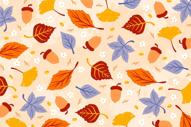 Jesień tło z motywem liści